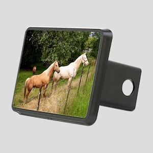 horses Rectangular Hitch Cover
