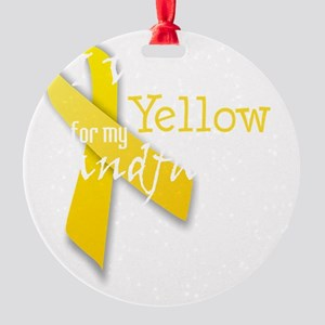 trans_i_wear_yellow_for_my_grandfat Round Ornament