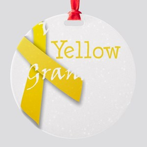 trans_i_wear_yellow_for_my_grandpa Round Ornament