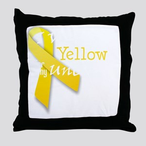 trans_i_wear_yellow_for_my_uncle Throw Pillow
