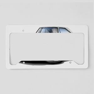 1966 Coronet White Car License Plate Holder