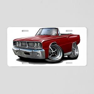 1966 Coronet Maroon Convert Aluminum License Plate