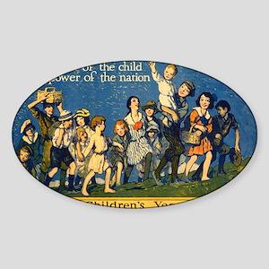 Childrens Year Sticker (Oval)