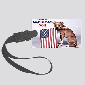 Save Americas Dog Large Luggage Tag
