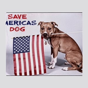 Save Americas Dog Throw Blanket