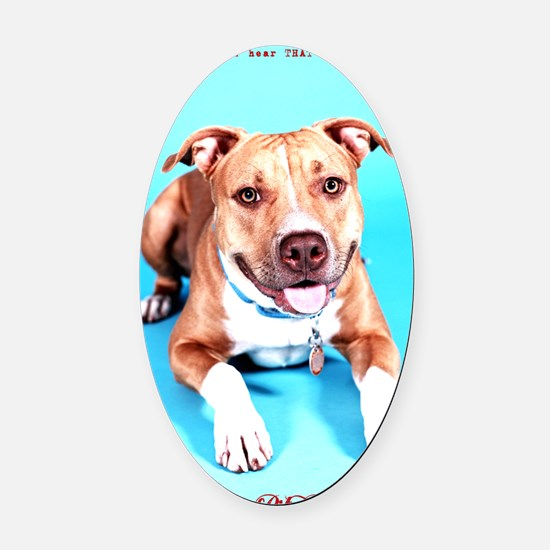 Pit Bull- An American Hero Oval Car Magnet