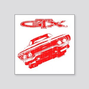 "GTX_TSHIRTflat Square Sticker 3"" x 3"""