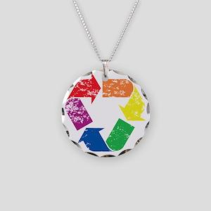 GreenGay Necklace Circle Charm