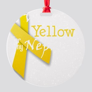 trans_i_wear_yellow_for_my_nephew Round Ornament