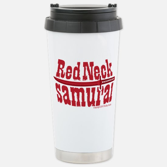RedNeck_Samurai_chest Stainless Steel Travel Mug