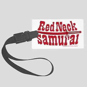 RedNeck_Samurai_chest Large Luggage Tag