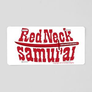RedNeck_Samurai_chest Aluminum License Plate