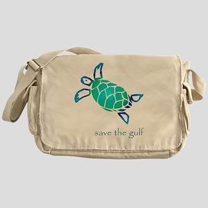 turtle-pap-blue-grad Messenger Bag