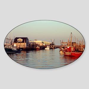 Port Monmouth Harbor Sticker (Oval)