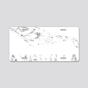 DolphinAnguilla1Bk Aluminum License Plate