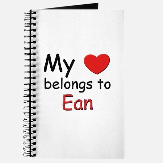 My heart belongs to ean Journal