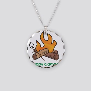 2-campfire Necklace Circle Charm