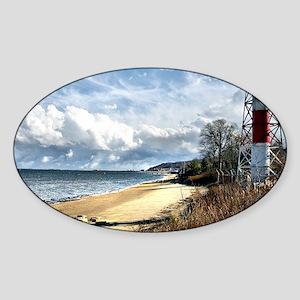 Conover Beacon Lighthouse Sticker (Oval)