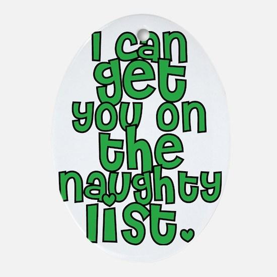 Naughty List - Christmas Oval Ornament