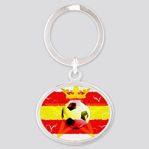 Spain-semi-f-v2 copy Oval Keychain