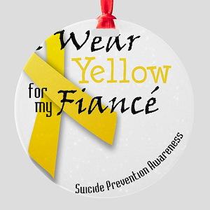 i_wear_yellow_fiance Round Ornament