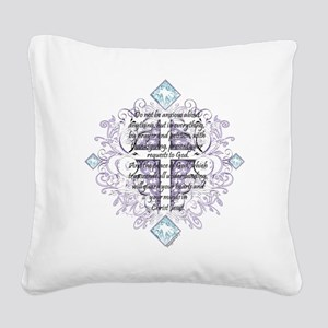 Anxious Square Canvas Pillow