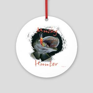 Muskie hunter Round Ornament