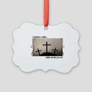 3 Crosses Picture Ornament