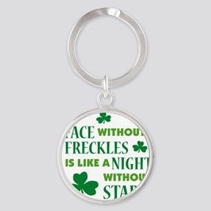 a face without freckles light Round Keychain