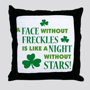 a face without freckles light Throw Pillow