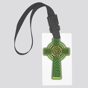 Celtic Cross 2 light Large Luggage Tag