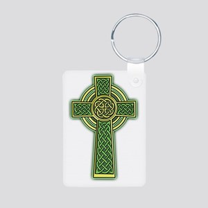 Celtic Cross 2 light Aluminum Photo Keychain