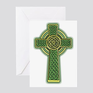 Celtic Cross 2 light Greeting Card