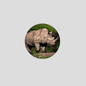 (2) Rhino on Hill Mini Button