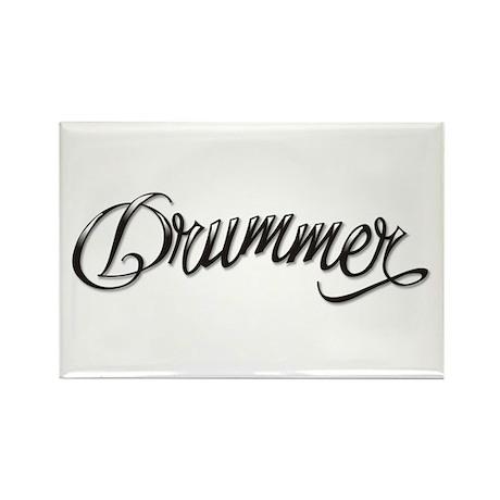 Drummer Tattoo Musician Rectangle Magnet (100 pack