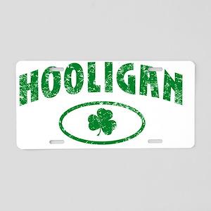 hooligan_distressed_light Aluminum License Plate