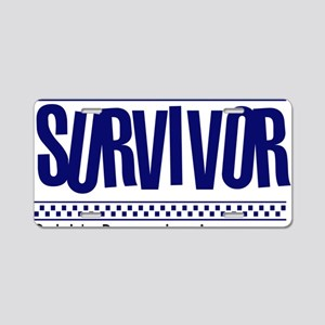 blue_survivor Aluminum License Plate