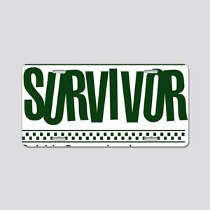 green_survivor Aluminum License Plate