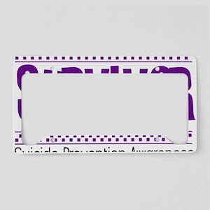 purple_survivor License Plate Holder