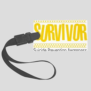 yellow_survivor Large Luggage Tag