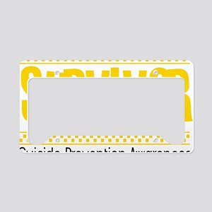 yellow_survivor License Plate Holder