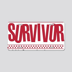 red_survivor Aluminum License Plate