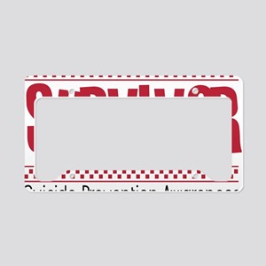 red_survivor License Plate Holder