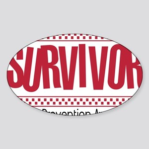 red_survivor Sticker (Oval)