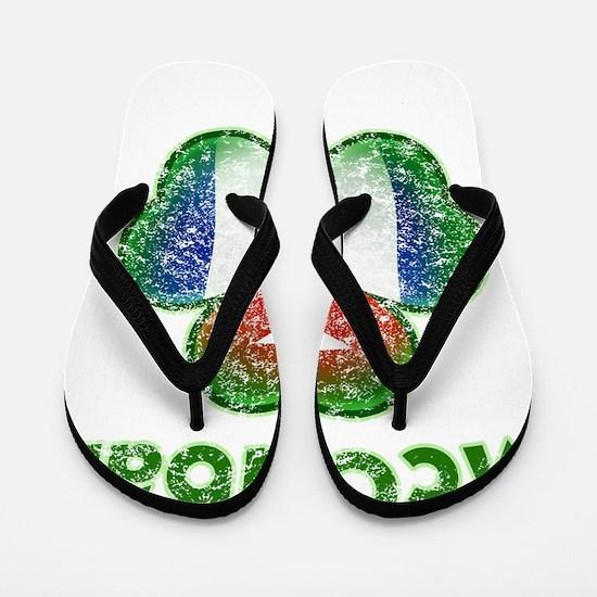 McCuban distressed both Flip Flops