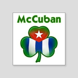 "McCuban_both Square Sticker 3"" x 3"""