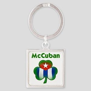 McCuban_both Square Keychain