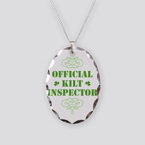 official_kilt_inspector_dark Necklace Oval Charm