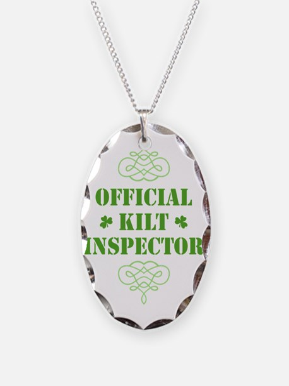 official_kilt_inspector_dark Necklace Oval Charm