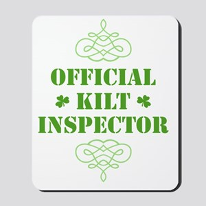 official_kilt_inspector_dark Mousepad